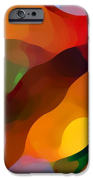 Abstract Movement iPhone Cases - Paradise Found Tall iPhone Case by Amy Vangsgard
