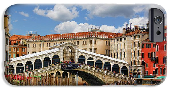 Balcony iPhone Cases - Paradise in Venice iPhone Case by Mariola Bitner