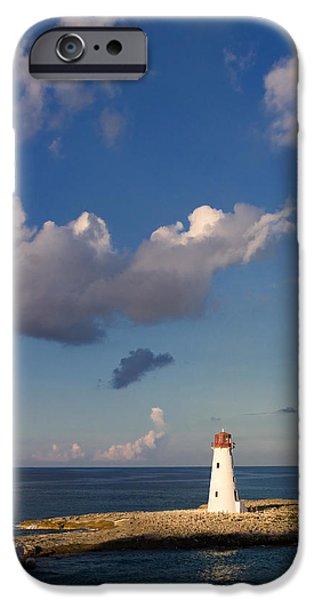 Paradise Island Lighthouse iPhone Case by Stephanie McDowell