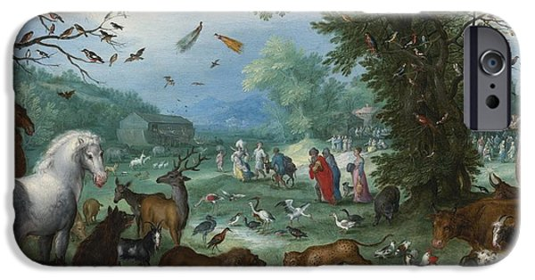 Noahs Ark Paintings iPhone Cases - Paradise Landscape iPhone Case by Celestial Images