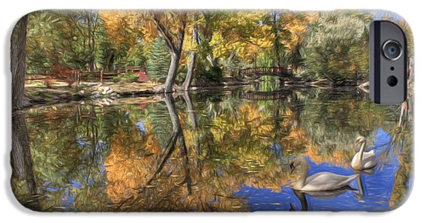 Swans... iPhone Cases - Paradise 2 iPhone Case by Donna Kennedy
