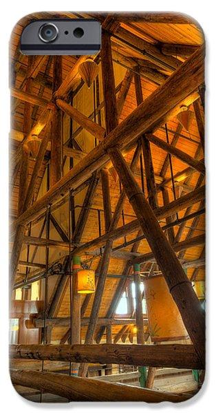 Historic Architecture iPhone Cases - Paradise Lodge Mt Rainier Natl Park iPhone Case by Steve Gadomski