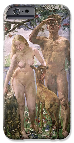 Paradise iPhone Case by Lovis Corinth
