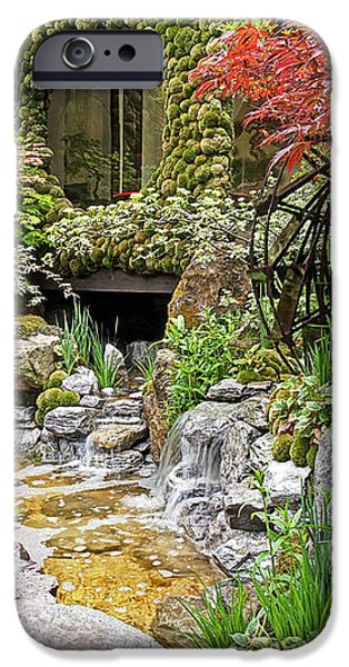 Spring Scenery iPhone Cases - Paradise On Earth - Japanese Garden iPhone Case by Gill Billington