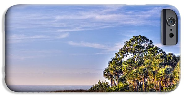 Palmettos iPhone Cases - Paradise on the Gulf iPhone Case by Marvin Spates