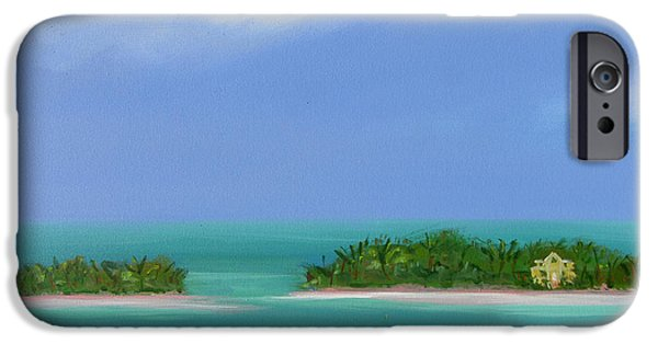 Sally Huss iPhone Cases - Paradise on the Water iPhone Case by Sally Huss