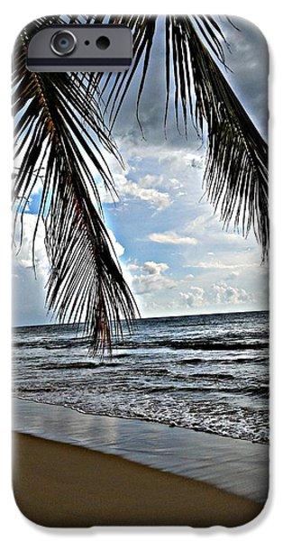 Rincon Beach iPhone Cases - Paradise  Rincon Puerto Rico iPhone Case by Loretta Cassiano