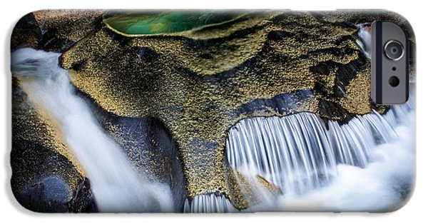 Creek iPhone Cases - Paradise Rocks iPhone Case by Inge Johnsson