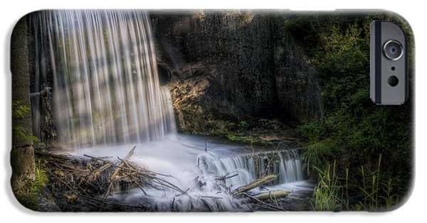 Creek iPhone Cases - Paradise Springs Waterfall iPhone Case by Scott Norris