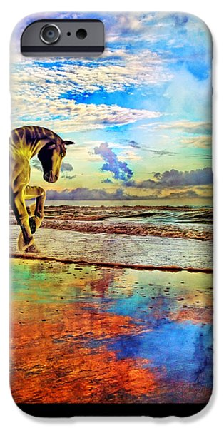 Mystic Setting Mixed Media iPhone Cases - Paradise Sunset iPhone Case by Betsy A  Cutler