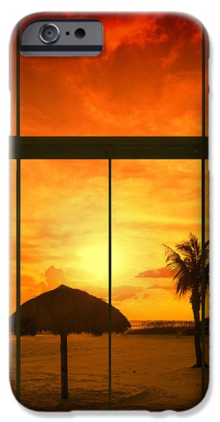 Sun Shade iPhone Cases - Paradise View I iPhone Case by Melanie Viola