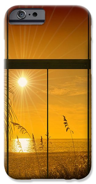 Distance iPhone Cases - Paradise View II iPhone Case by Melanie Viola
