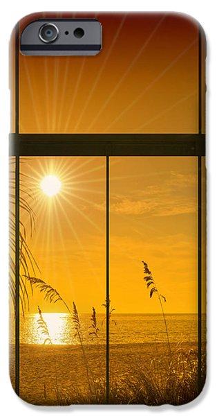 Ocean Sunset iPhone Cases - Paradise View II iPhone Case by Melanie Viola