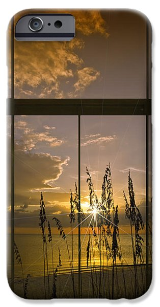 Distance iPhone Cases - Paradise View III iPhone Case by Melanie Viola
