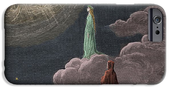 Epic iPhone Cases - Paradiso  Canto Fourteen iPhone Case by Gustave Dore