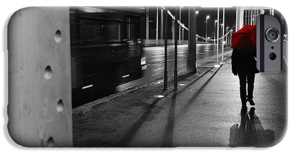 Rainy Day iPhone Cases - Parallel speed iPhone Case by Simona Ghidini