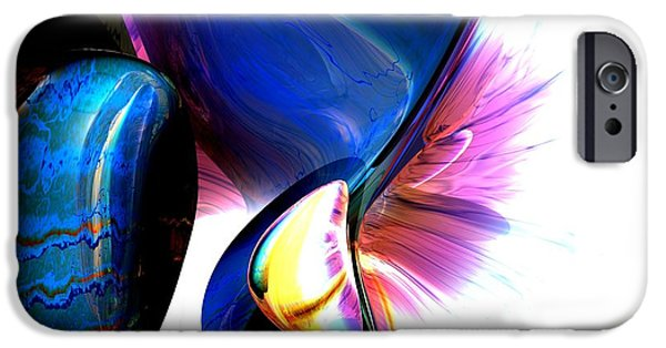 Paranormal Digital iPhone Cases - Paranormal Illusions Abstract iPhone Case by Alexander Butler