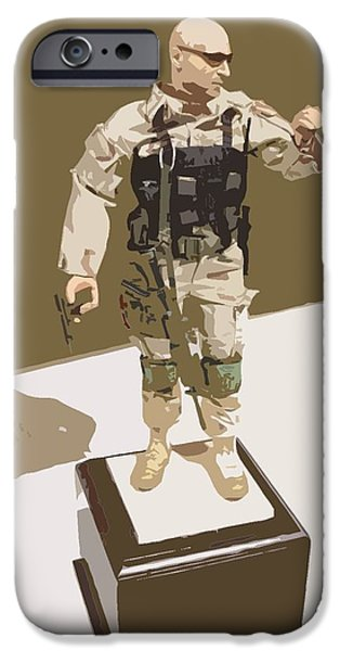 Iraq iPhone Cases - Pararescueman iPhone Case by Julio R Lopez Jr