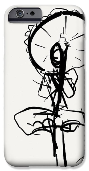 Gestures Drawings iPhone Cases - Parasol  iPhone Case by Kevin Houchin
