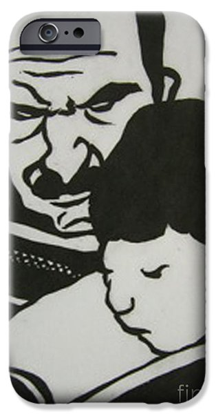 Child Reliefs iPhone Cases - Parent et enfant iPhone Case by Yoshie Ochiai