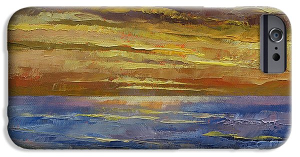 Michael Paintings iPhone Cases - Parfait Sunset iPhone Case by Michael Creese