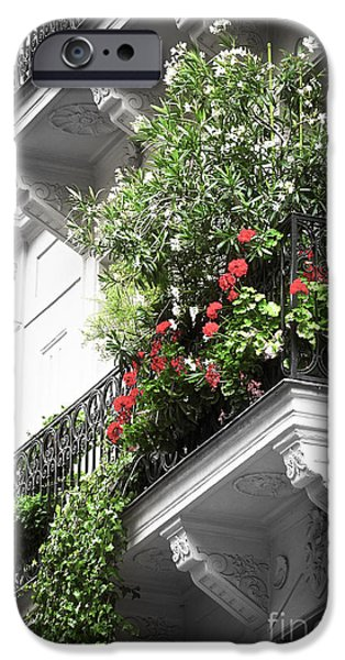 Paris balcony iPhone Case by Elena Elisseeva