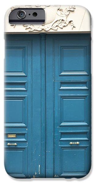 Paris Door iPhone Case by Nomad Art And  Design