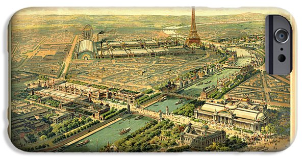 Antiques iPhone Cases - Paris Exposition iPhone Case by Gary Grayson