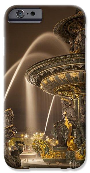 Paris Fountain iPhone Case by Brian Jannsen
