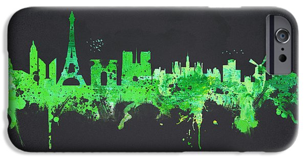 Buildings Mixed Media iPhone Cases - Paris France iPhone Case by Aged Pixel