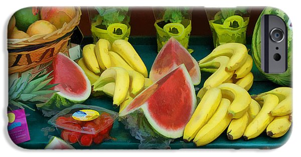 Farm Stand iPhone Cases - Paris Fruit Stand iPhone Case by Allen Beatty