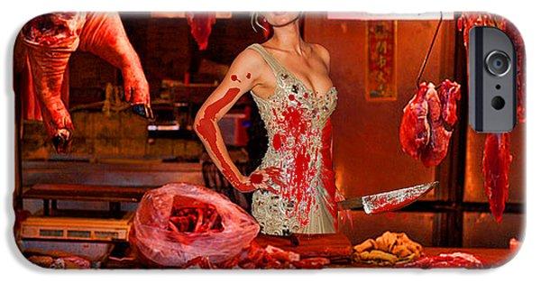 Photorealistic iPhone Cases - Paris Hilton The Butcher iPhone Case by Tony Rubino