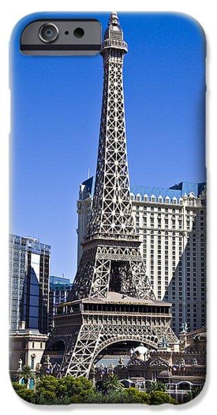 Hightower iPhone Cases - Paris Hotel Las Vegas iPhone Case by Tim Hightower