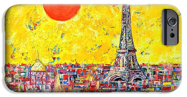 Abstract Expressionism iPhone Cases - Paris In Sunlight iPhone Case by Ana Maria Edulescu