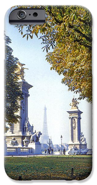 Paris in the Fall 1954 iPhone Case by Chuck Staley