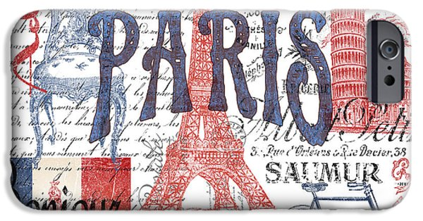Recently Sold -  - Flag iPhone Cases - Paris iPhone Case by Jean Plout