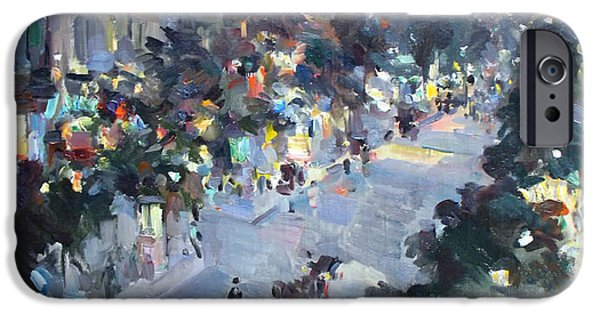Concept Paintings iPhone Cases - Paris iPhone Case by Korovin