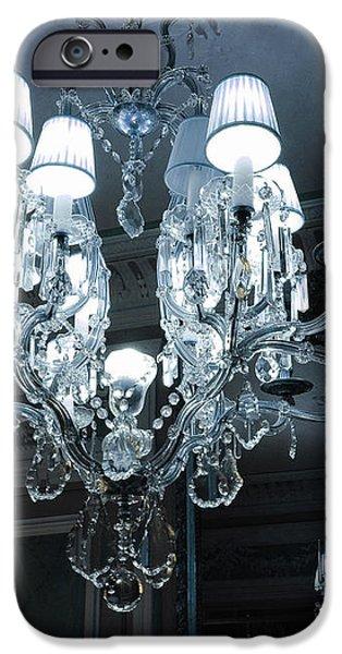 Paris Laduree Sparkling Crystal Chandelier - Laduree Chandelier Art iPhone Case by Kathy Fornal