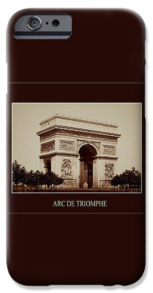 Paris Landmarks 2 iPhone Case by Andrew Fare