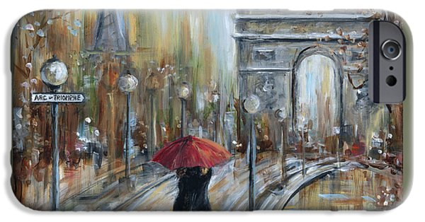 Lamppost iPhone Cases - Paris Lovers II iPhone Case by Marilyn Dunlap
