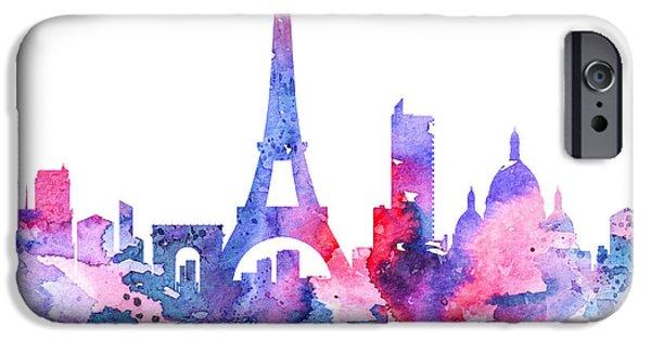 Paris Paintings iPhone Cases - Paris iPhone Case by Luke and Slavi