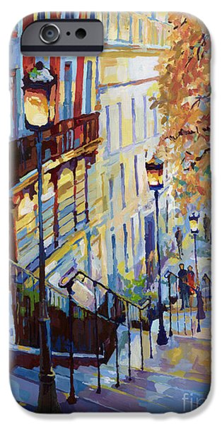 Paris Monmartr Steps iPhone Case by Yuriy  Shevchuk