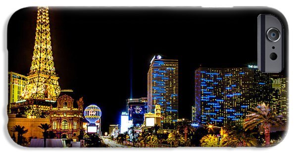 The Strip iPhone Cases - Welcome to Vegas iPhone Case by Az Jackson
