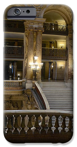 Paris Opera House Interior Romantic Staircase Balconies and Architecture  iPhone Case by Kathy Fornal