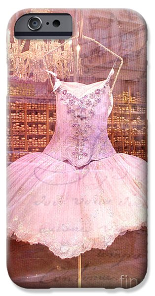 Paris Pink Ballerina Tutu - Paris Repetto Ballet Shop - Paris Ballerina Dress Tutu - Repetto Ballet iPhone Case by Kathy Fornal