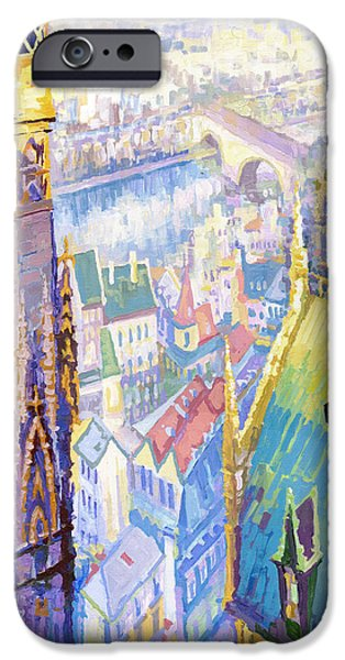Buildings iPhone Cases - Paris Shadow Notre Dame de Paris iPhone Case by Yuriy  Shevchuk