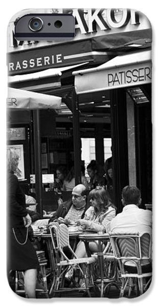 Paris Street Cafe - Le Malakoff iPhone Case by Georgia Fowler
