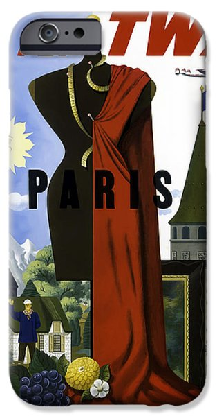 Vintage Travel iPhone Cases - Paris TWA iPhone Case by Mark Rogan