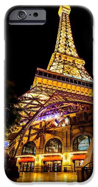 Sign iPhone Cases - Paris Under The Tower iPhone Case by Az Jackson