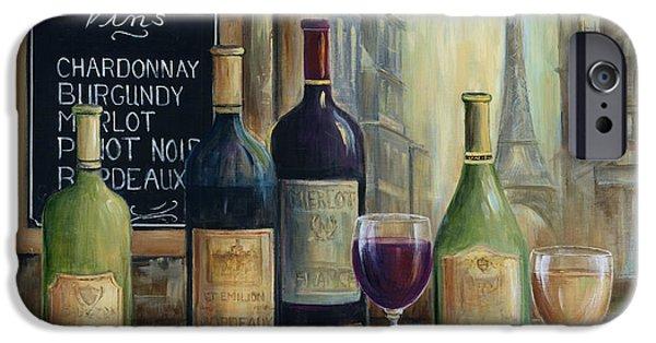 Paris Paintings iPhone Cases - Paris Wine Tasting iPhone Case by Marilyn Dunlap